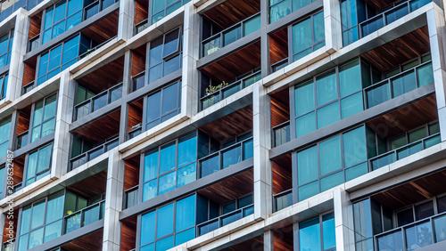 Modern multi-dwelling buildings, balconies close up Obraz na płótnie
