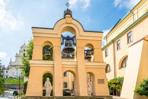 Obraz View at the Belfry  of Greek Catholic Church of Saint John the Baptist in Przemysl - Poland - fototapety do salonu