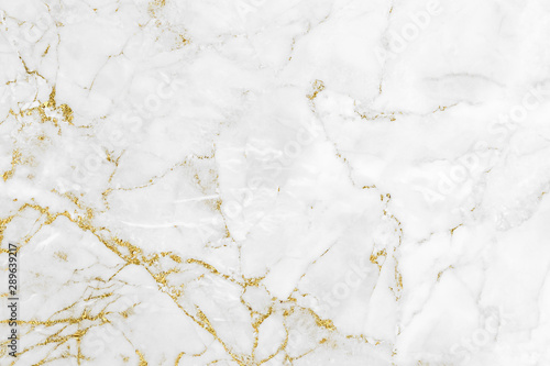 Fotografia White gold marble texture pattern background with high resolution design for cov