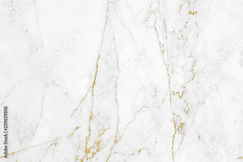 Fényképezés White gold marble texture pattern background with high resolution design for cov