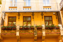 Old Romantic Balcony Ful With ...