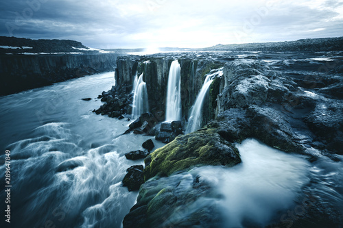 Image of famous Selfoss cascade. Location place Vatnajokull National Park, Iceland, Europe.