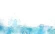 Leinwandbild Motiv Blue Paint Watercolor border isolated on white