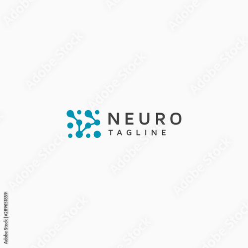 Obraz Neuro Logo Icon Design Template Vector - fototapety do salonu