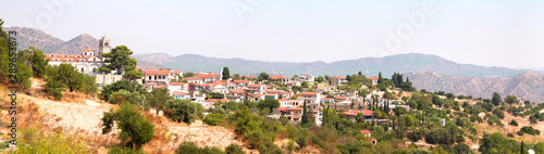 Panoramic view of a village on the island of Cyprus