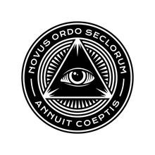 New World Order Symbol With Al...