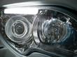 closeup of headlight of car