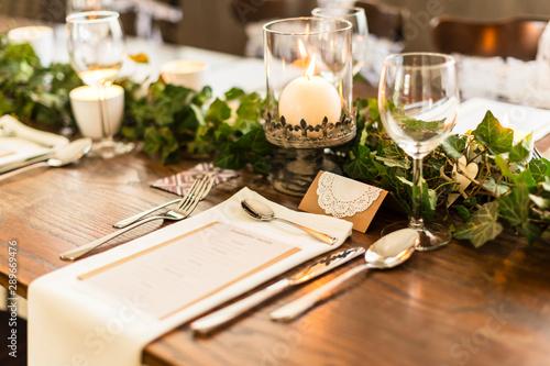 Fotomural  wedding table setting