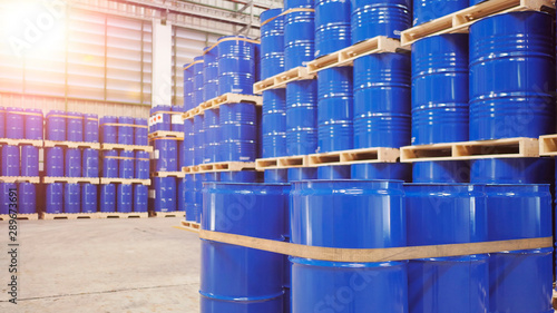Barrel tank in warehouse
