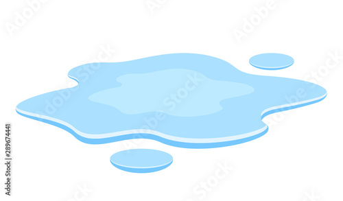 Photo  Water spill vector illustration