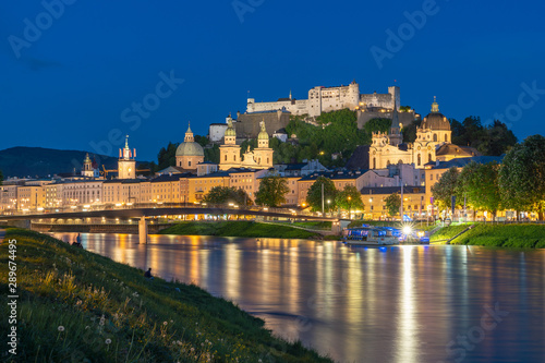 Fényképezés beautiful view of Salzburg skyline