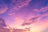Fototapeta Tęcza - Beautiful clouds sky. Sunset sky. Gradient Sky pink and purple.jpg