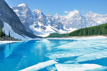 Moraine Lake Under The Ice At ...
