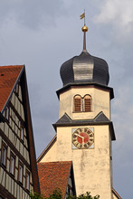 Evangelische Stadtkirche In Langenburg, Baden-Württemberg