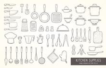 Hand Drawn Kitchen Supplies