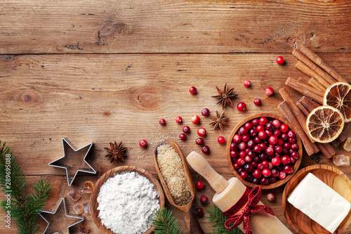 Fotografie, Obraz  Ingredients for cooking Christmas baking