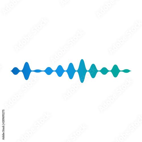 Photo  Blue wavy equalizer, sound and audio amplitude.