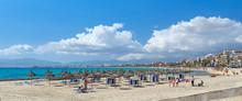 Panoramic Image Beach With Par...
