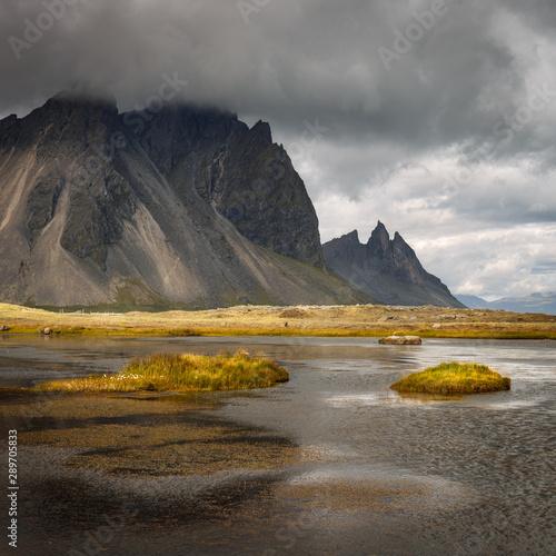 Staande foto Noord Europa Vestrahorn mountain on Stokksnes cape in Iceland