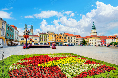 Main square of Kromeriz downtown in Moravia. Czech Republic Wallpaper Mural
