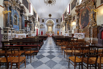 Fototapeta na wymiar Franciscan church of the Friars Minor in Dubrovnik, Croatia