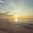 Beautiful sunrise over tropical sea