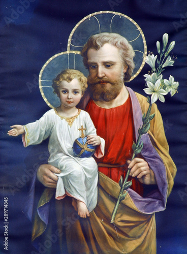 Fotografía Saint Joseph with child Jesus
