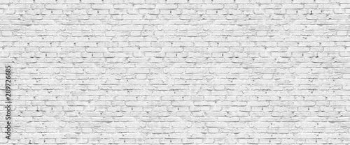 Panoramic background of wide old white brick wall texture Fototapeta