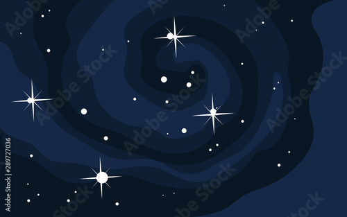 Fotografie, Tablou  Vector space background