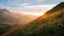 Stunning Sunset On Kanisfluh, Austria