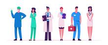 Hospital Healthcare Staff Set,...