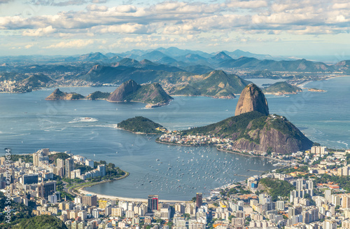 Rio de Janeiro, Brazil, view from the CHrist the Redemtor stuate Canvas Print
