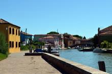 Kleiner Kanal Auf Mazzorbo In Der Lagune Von Venedig