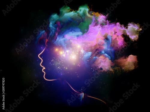 Evolving Human Mind Fototapet