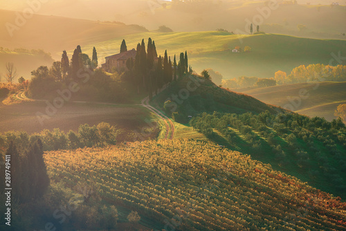 Canvas Prints Tuscany Sunrise in Italy