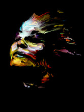 Colorful Abstract Portrait.