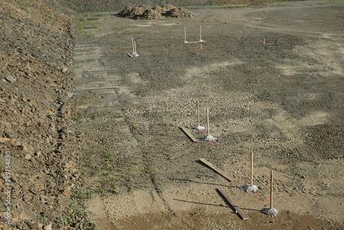 Türaufkleber Darknightsky Construction site