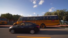 Motion Footage Of Yellow Schoo...