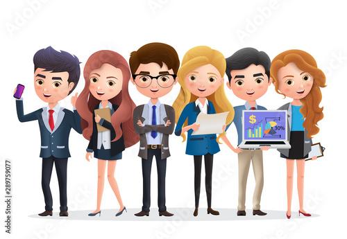 Fototapeta  Business team vector characters