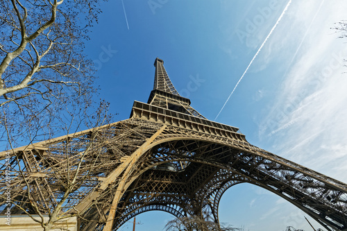Fototapeta Paris, France - Eiffel tower made of iron obraz na płótnie