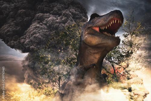dinosaurs extinction day Fototapet