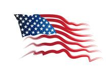 American USA Flag Vector Image