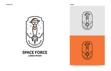 Flat Rocket Logo Template, Spa...