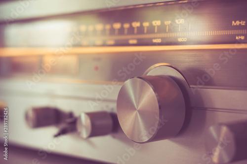 Photo Vintage radio on the table