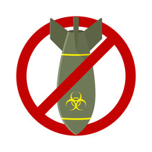 Stop Air Bomb Nuclear Toxic Sign Illustration Vector