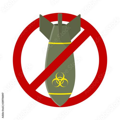 Vászonkép Stop Air Bomb Nuclear Toxic Sign Illustration Vector