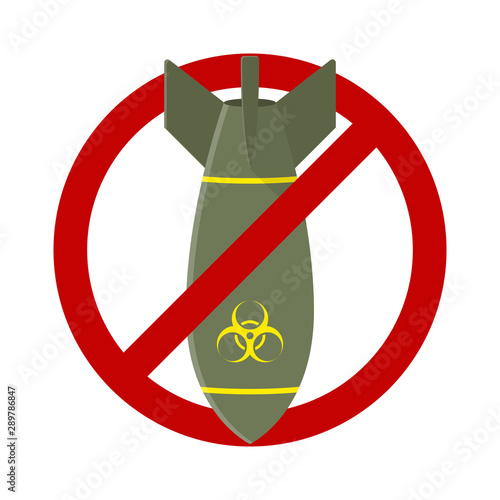 Fotografija Stop Air Bomb Nuclear Toxic Sign Illustration Vector