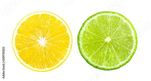 lemon slice isolated on a white background - 289792825