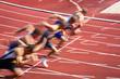 Dynamischer Start in der Leichtathletik