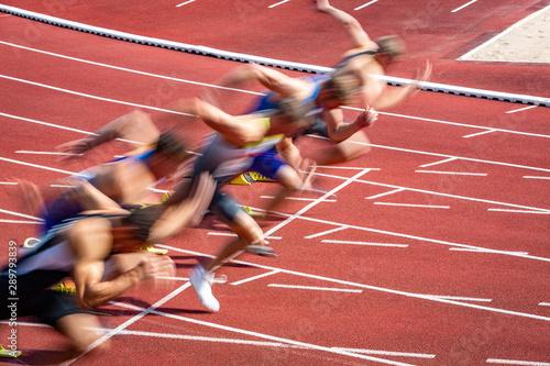 Fotomural  Dynamischer Start in der Leichtathletik